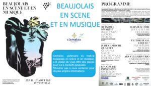 Festival «BEAUJOLAIS EN SCENE ET EN MUSIQUE !»